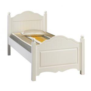 beaux meubles pas chers lit blanc 1 place 90 x 190 cm 90cm x 90cm pas cher achat vente. Black Bedroom Furniture Sets. Home Design Ideas