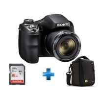 SONY - Pack amateur -DSCHX300B.CE3 + SDSDUNC-016G-GN6IN + TBC404K