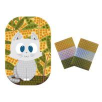 Maildor - Square Stick' - Kit Carte Chat à Décorer - 300 Carrés Mousses Autocollants