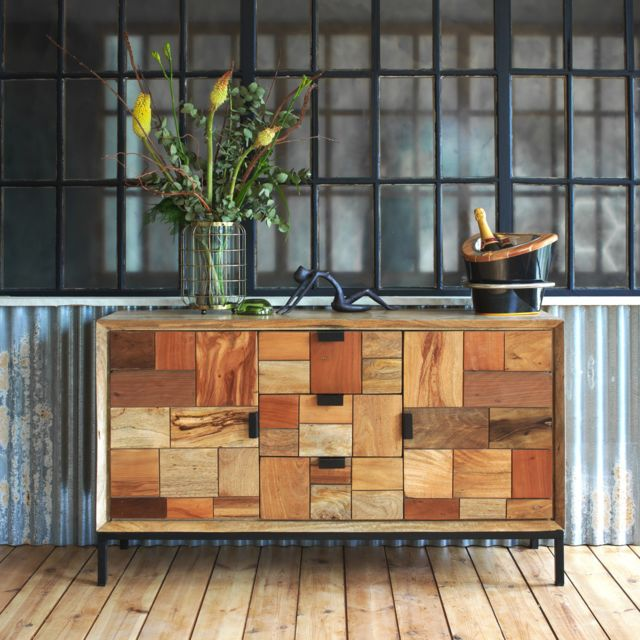 Made In Meubles Buffet Multi Carreaux Relief 2 Portes 3