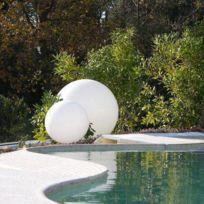 Slide - Globo Out - Lampe d'extérieur Blanc Ø70cm - Luminaire d'extérieur designé par