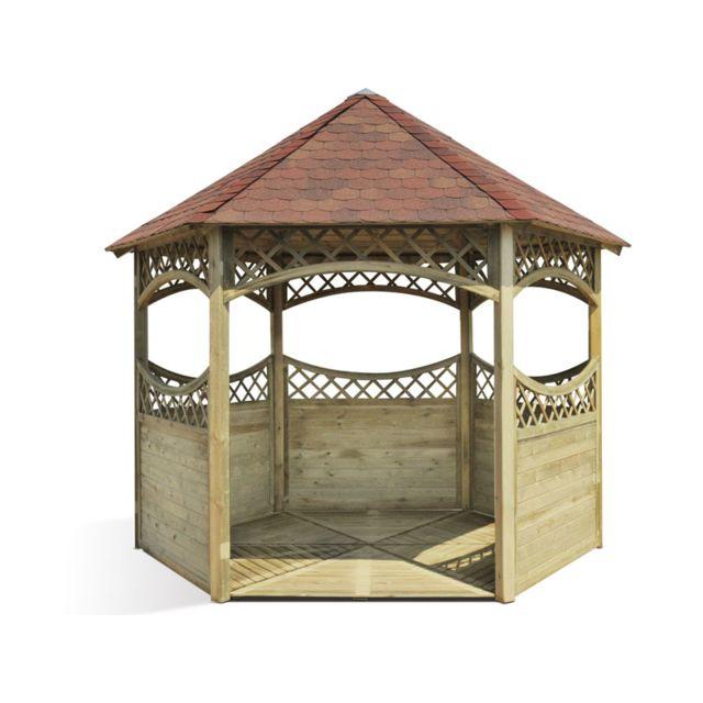 Jardipolys kiosque en bois pas cher achat vente - Kiosque de jardin en bois pas cher ...