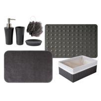 Gelco - Lot 4 Accessoires + Tad + Tapis Trendy noir carbone