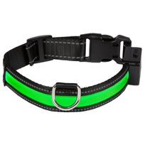 Eyenimal - Collier lumineux Light Collar Usb rechargeable S - Vert - Pour chien