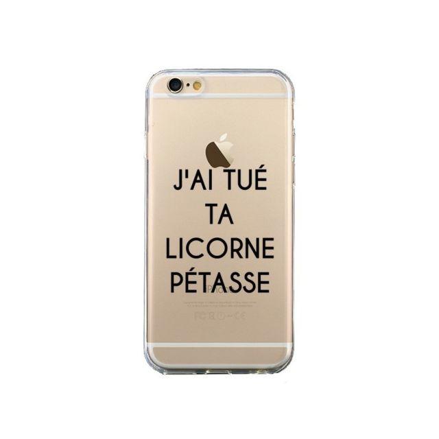 coque iphone 6 et 6s tue licorne petasse transparente maryline cazenave