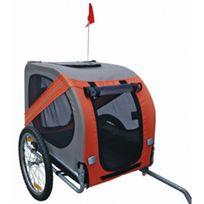 CASASMART - Remorque de vélo orange et grise pour chien