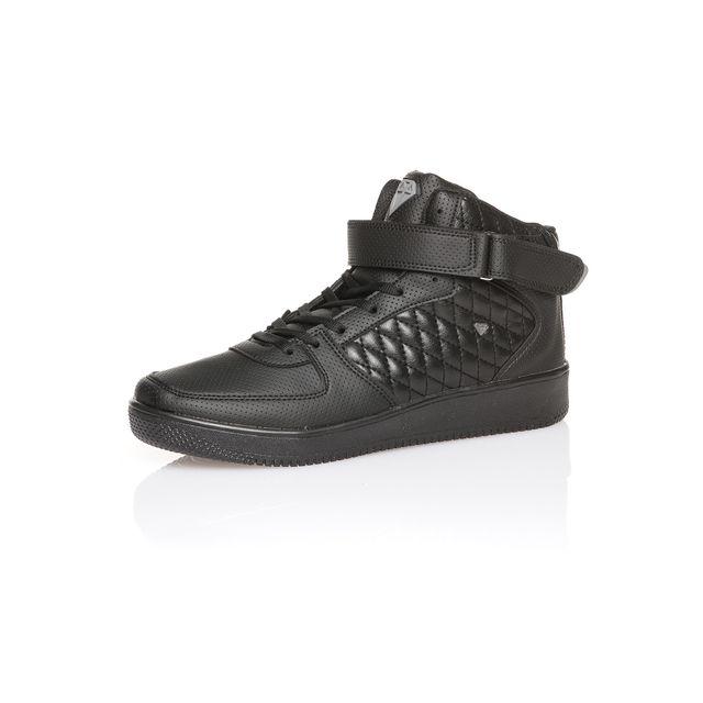 38022df797b87 BLZ Jeans - Basket homme noir à scratch - pas cher Achat   Vente ...