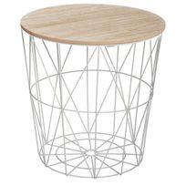 """Paris Prix - Table d'Appoint Design """"Kumi"""" 41cm Gris"""