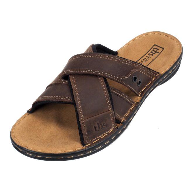 répliques inégale en performance à bas prix Tbs - Tongs claquettes Benaix marron sandale Marron 79697 ...