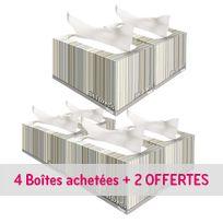 Kleenex - Pack de 4 boîtes essuie-mains pliage enchevêtré + 2 offerts