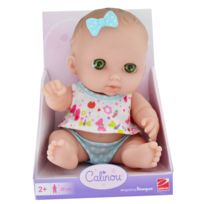Calinou - Poupée 22 cm : Poupée blanche aux yeux verts