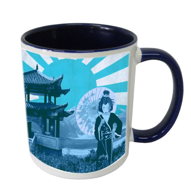 Cbkreation Tasse en céramique japon bleu