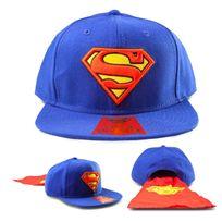 Totalcadeau - Casquette Superman avec cape rouge