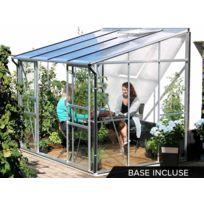 LAMS - Serre adossée en verre Ida + Base - 5,20 m²