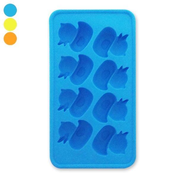 Totalcadeau - Moule silicone choclat et bac à pour 8 glacons canards bleu