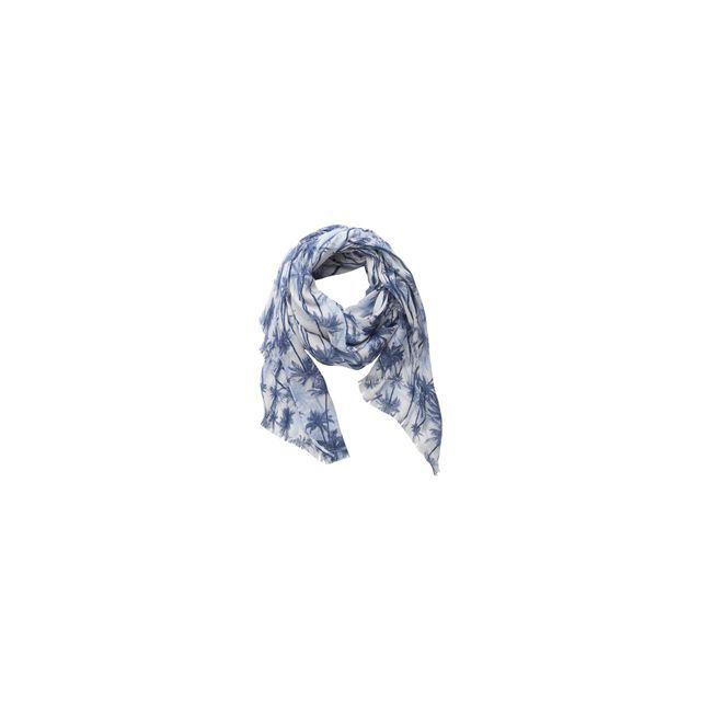 d099a1ebaab40 Pieces - Foulard Bleu Palmiers Pcnoe 17065574 Blue Depths - pas cher Achat    Vente Echarpes, foulards - RueDuCommerce