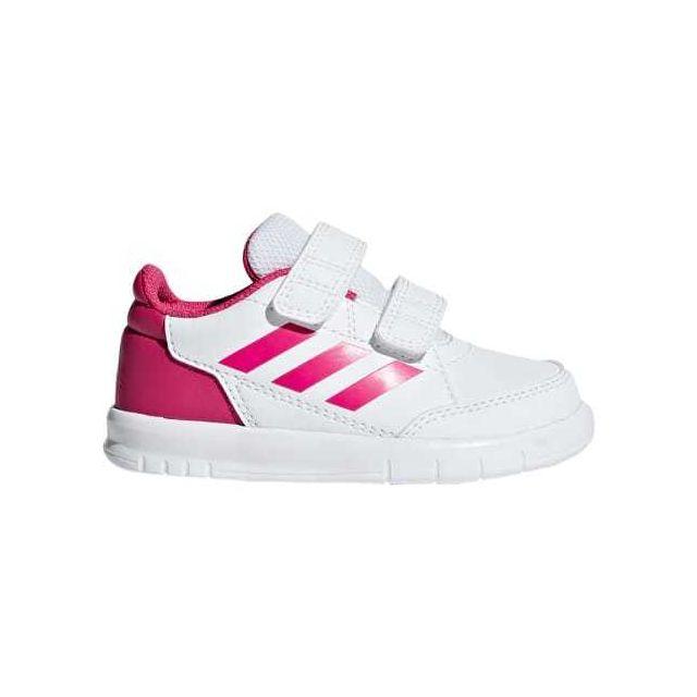 Chaussures neo AltaSport Cloudfoam blanc rose bébé