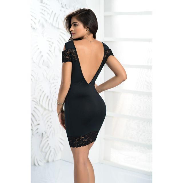 produits chauds vraie affaire magasiner pour authentique Robe Sexy Noire Dos Nu Mapalé