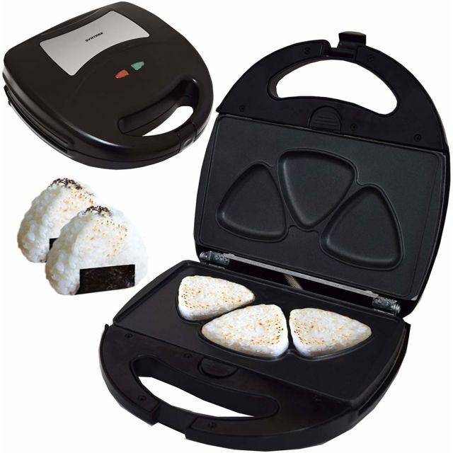 Syntrox Germany Boulettes de riz japonais triangulaires Onigiri avec plaques de cuisson interchangeables Sm-1300W