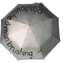 Incidence - Parapluie Ze P'BROK Pliant - Pas touche à mon brushing - argent
