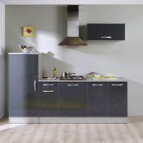 Paris Prix - Pack cuisine 3 meubles Adeline - gris brillant