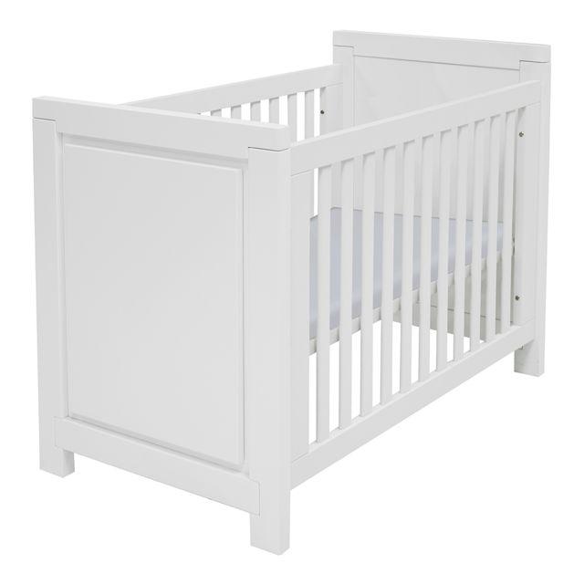 Twf Lit bébé 60x120 Malibu - Blanc