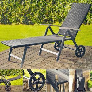 Rocambolesk superbe transat chaise longue en aluminium for Transat aluminium pas cher