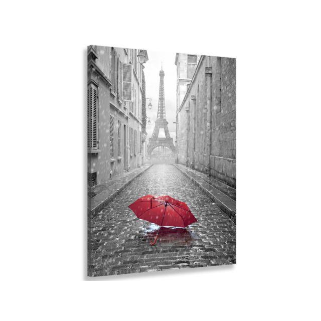 Hexoa Tableau Paris Perspective Tour eiffel et son parapluie - 50x80 cm