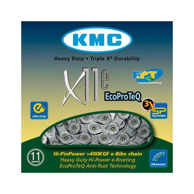 KMC Chaîne x11 El 118 maillons argent carton