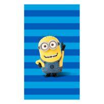 Les Minions - Drap de plage bleu 100% coton