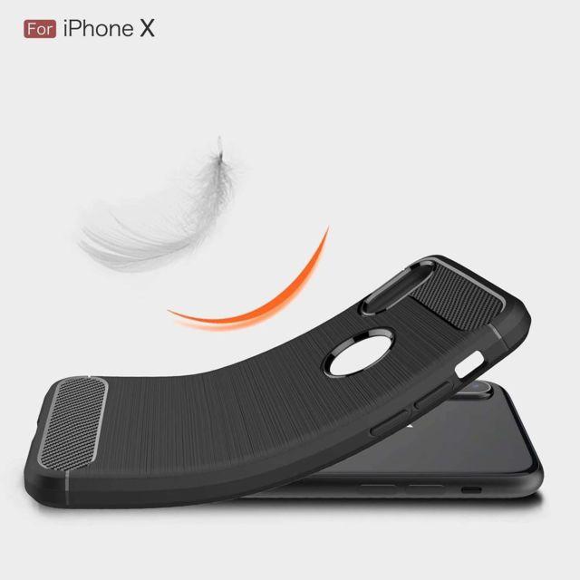 coque iphone xs silicone noir