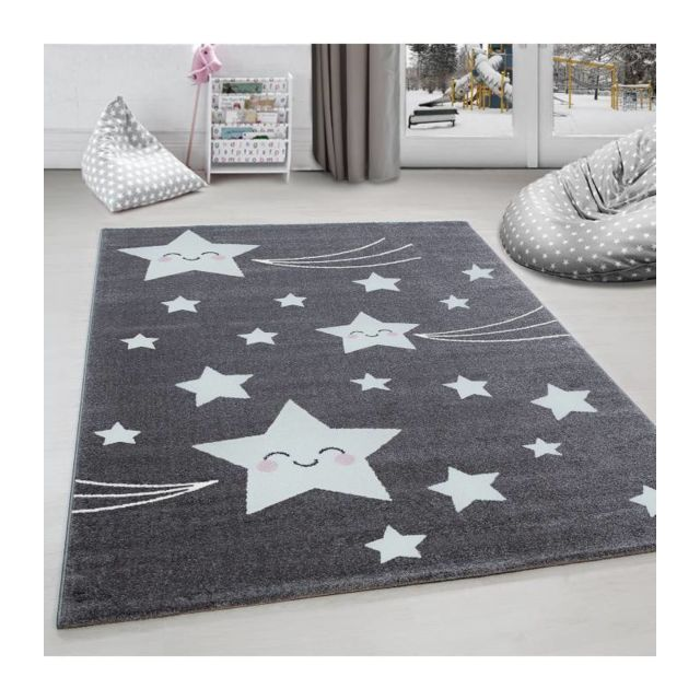 Tapis chambre d´enfant étoile filante Gr