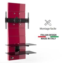 Meliconi - Ghost Design 3000 rouge Meuble Tv support fixe 32 a 63