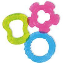 DBD REMOND - 3 anneaux de dentition à rafraichir bleu vert et rose