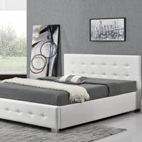 Cadre lit coffre achat cadre lit coffre pas cher rue du commerce - Cadre de lit avec coffre ...