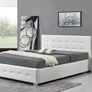 rocambolesk newington 140 blanc cadre de lit design. Black Bedroom Furniture Sets. Home Design Ideas