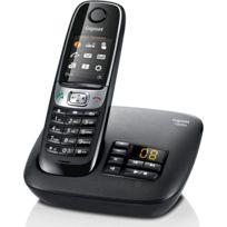 Siemens - Telephone fixe GIGASET C620A Noir sans fil avec répondeur - Fonction mains libres avec son Haute Definition HSP