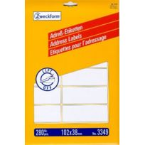 Avery - Zweckform 3349 Paquet de 280 étiquettes à adresses 102 x 38 mm Import Allemagne
