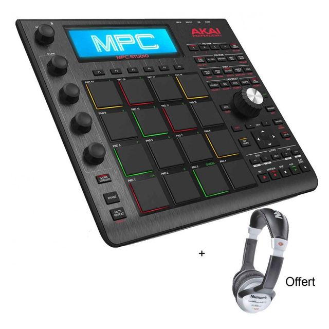 Akai - Pack Mpc studio Noir - Workstations Pro 16 Pads 4 Potentiomètres + Casque Offert