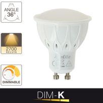 Xanlite - Ampoule Led Dim-k, culot Gu10, variateur d'intensité6W 50W