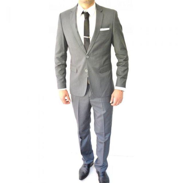 prestige man costume homme gris cintr 2 boutons pas cher achat vente costumes rueducommerce. Black Bedroom Furniture Sets. Home Design Ideas