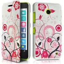 Karylax Coque Etui à rabat porte-carte motif Hf30 pour Nokia Lumia 630 + Film de protection auFT4Nv35Q
