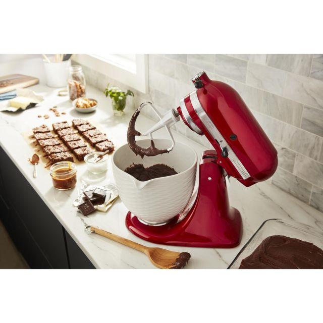 Kitchenaid robot multifonction de 4,8L 300W rouge pomme D'Amour argent