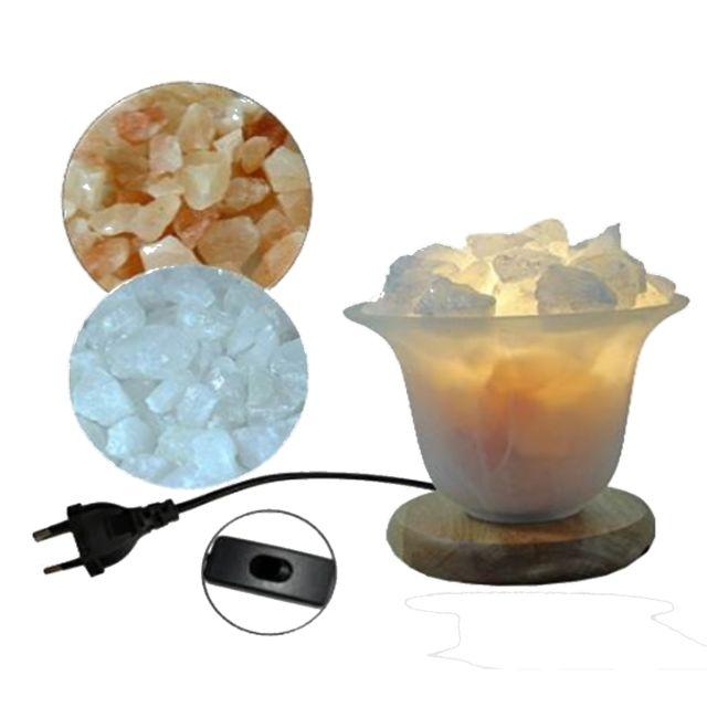 Jolipa Lampe à sel 13 cm avec supplément Cristal de roche