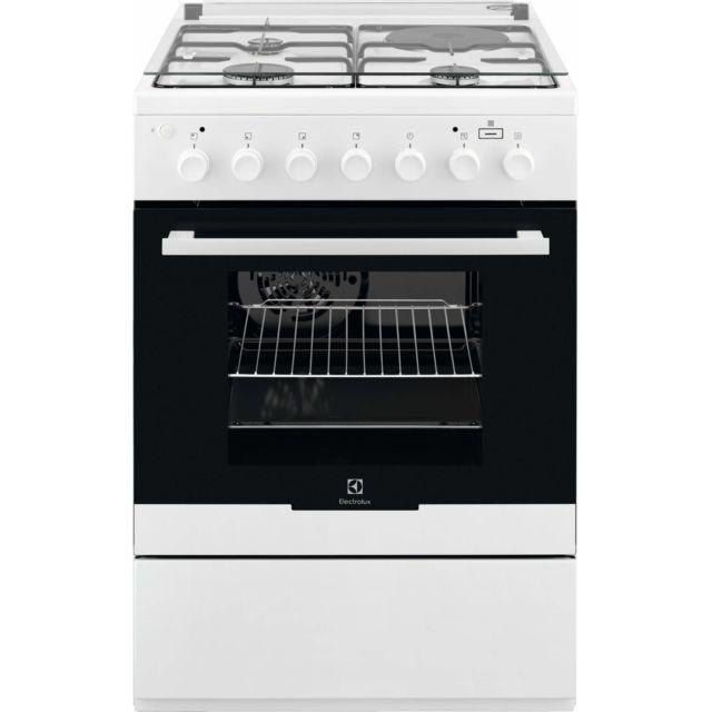 ELECTROLUX cuisinière mixte 58l 3 foyers + 1 plaque électrique - ekm60900ow