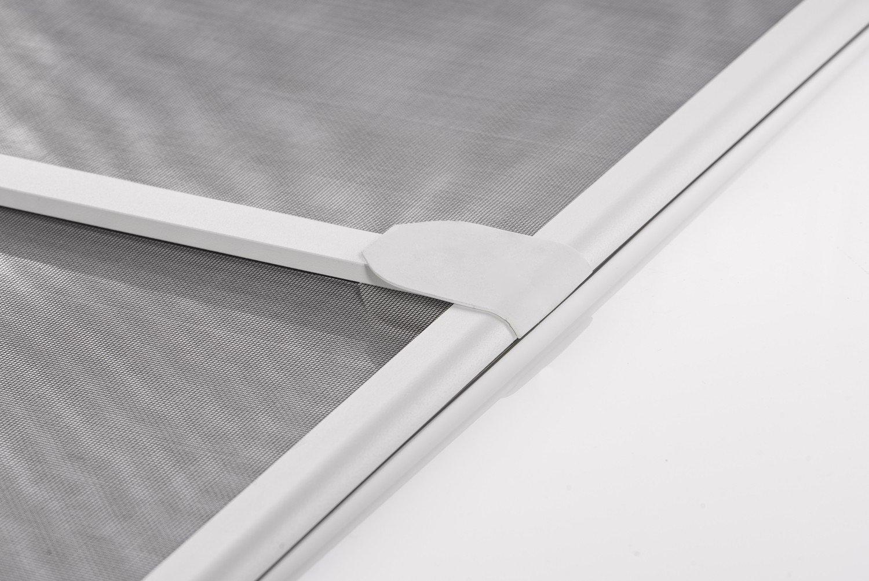 Moustiquaire Battante à Charnières Porte Start - Alu - L100 x H210 cm Gris