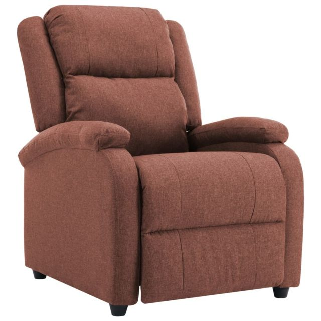 Icaverne - Fauteuils gamme Fauteuil inclinable TV Marron Tissu