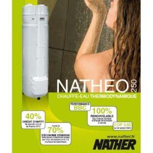 nather chauffe eau thermodynamique natheo 250 pas cher achat vente chauffe eau rueducommerce. Black Bedroom Furniture Sets. Home Design Ideas