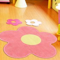 UN AMOUR DE TAPIS - Tapis ULTRA DOUX FLEUR rose Tapis Enfants 75 x 75 cm rose 75 x 75 cm