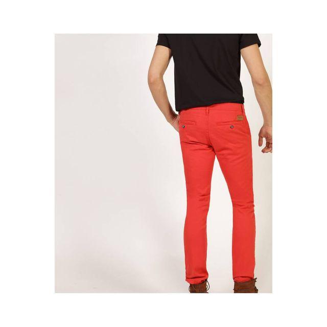 Redskins Pantalon chino red en coton stretch, coupe droite - CODY2 MAHEVAN - 36 Pantalon chino en coton stretch, coupe droite